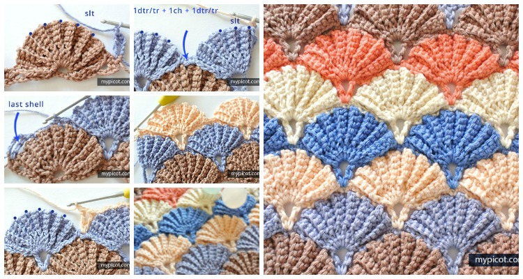 Crochet Sea Motifs - Shells, Starfish and Coral ⋆ Crochet Kingdom | 400x750