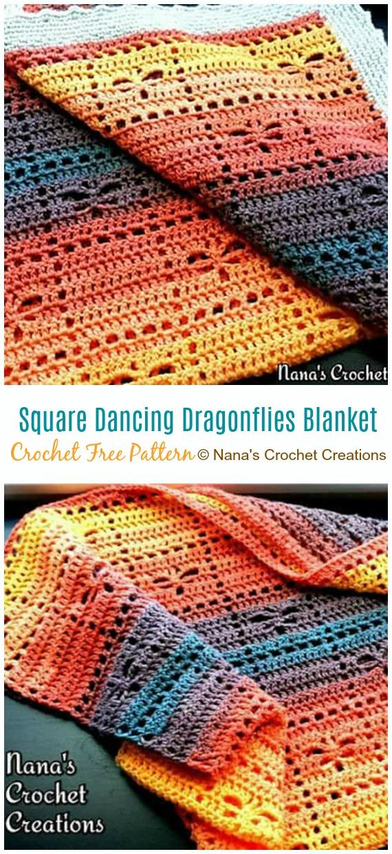 Dans Eden Yusufçuk Battaniyesi Crochet Free Pattern - Fileto #Blanket;  Ücretsiz #Crochet;  Desenler