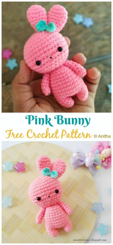 Velvet Bunny Amigurumi Free Crochet Pattern - Crochet For You | 1240x570