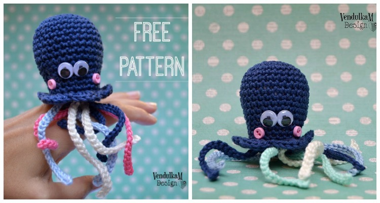 Octopus. Pattern by Vanessa Mooncie. Handmade by micacrochet ... | 400x750