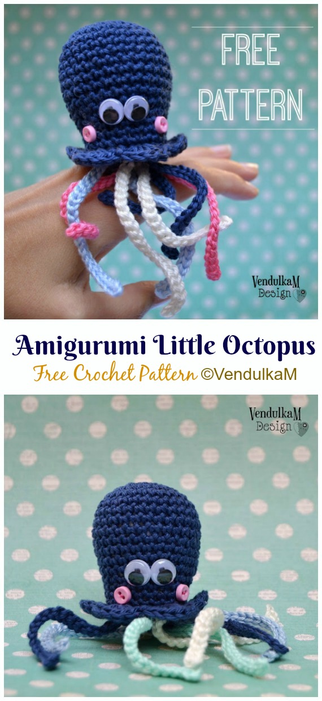 móhu — amigurumi octopus pattern This simple amigurumi... | 1240x570
