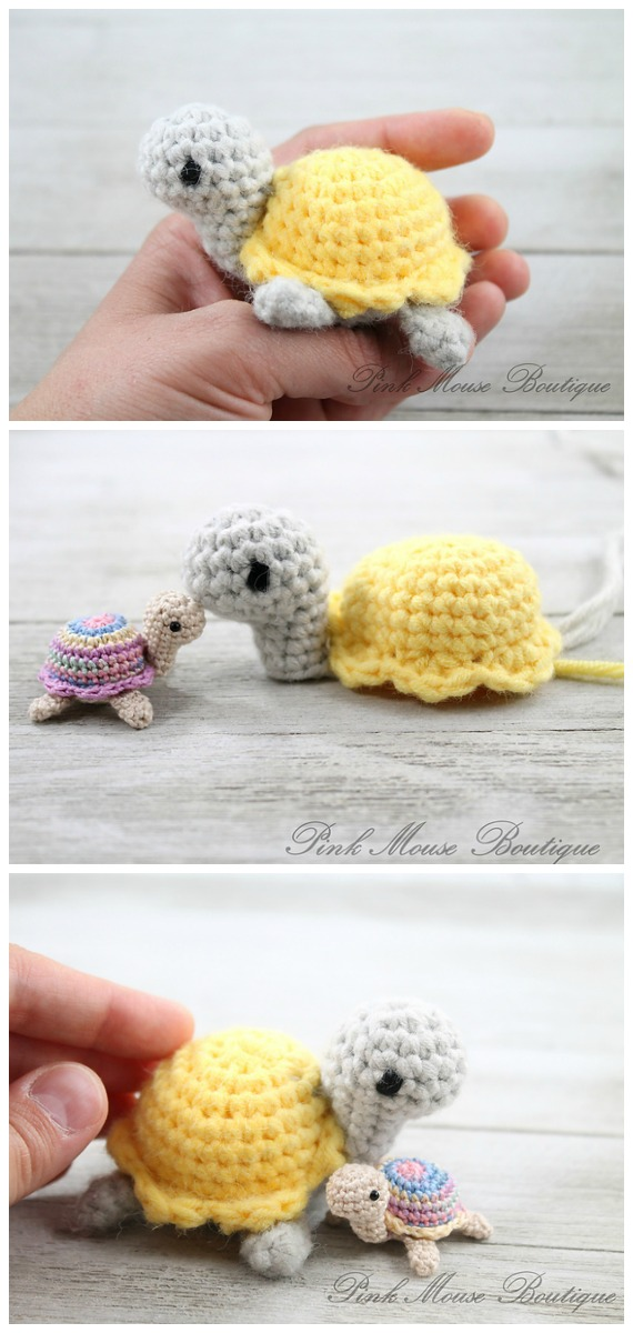 Crochet Little Miss Turtle Amigurumi Free Pattern - Amigurumi Baby Turtle Crochet Free Patterns