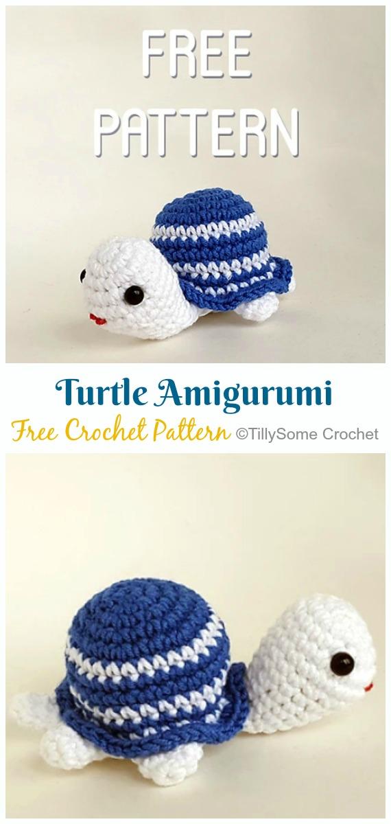 Crochet Little Turtle Amigurumi Free Pattern - Amigurumi Baby Turtle Crochet Free Patterns