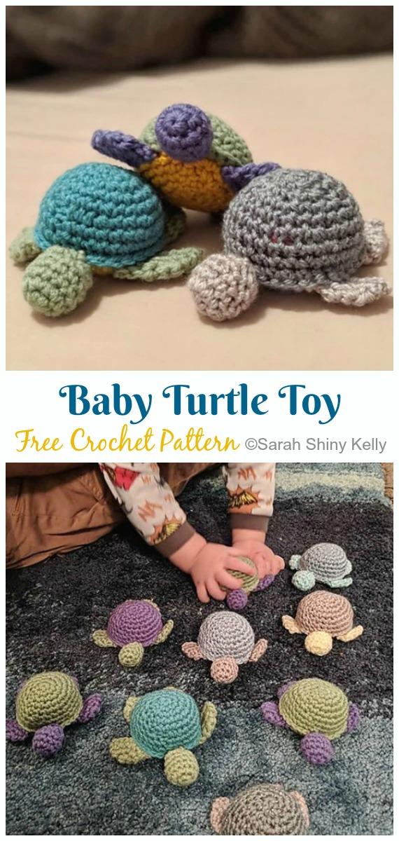 Crochet Baby Turtle Toy Amigurumi Free Pattern - Amigurumi Baby Turtle Crochet Free Patterns