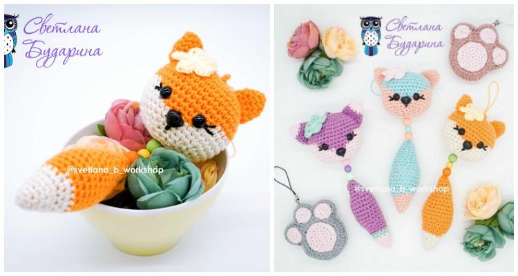 Amigurumi Fox Keyring - How to Crochet (Part 1) - YouTube   400x750