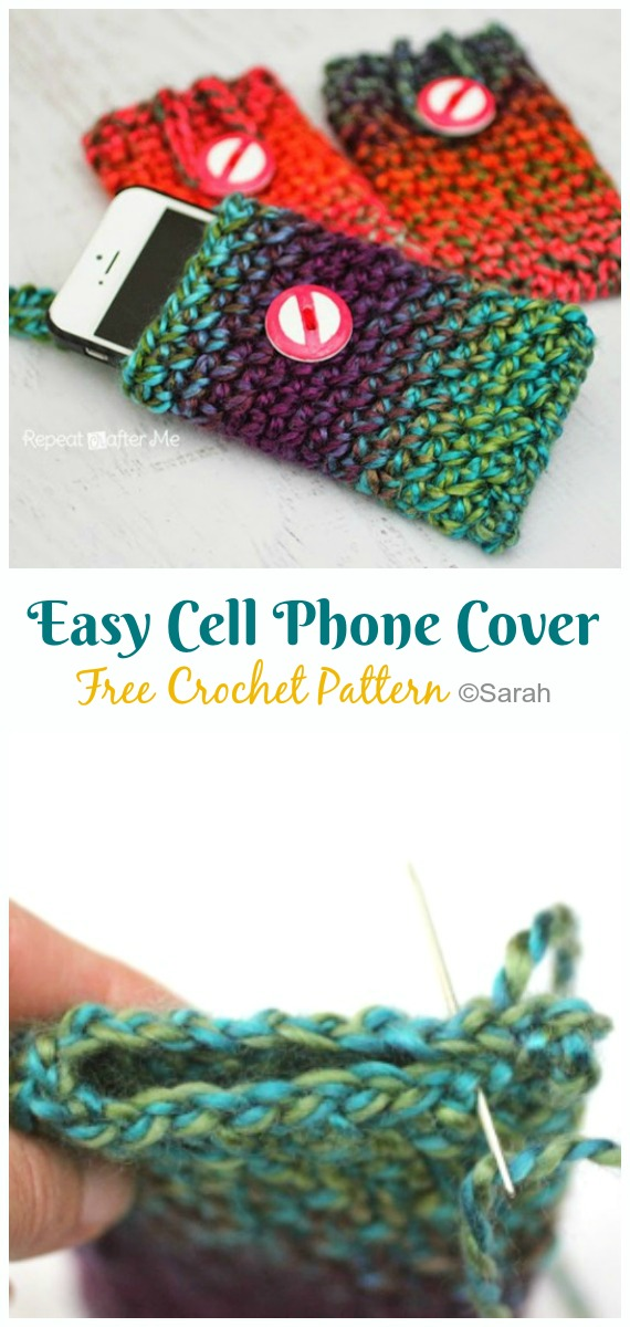 Mobile Phone Case Easy Knitting Pattern