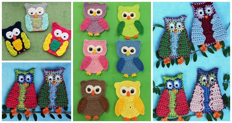 Sweet and Easy Crochet Applique Free Patterns | 400x750