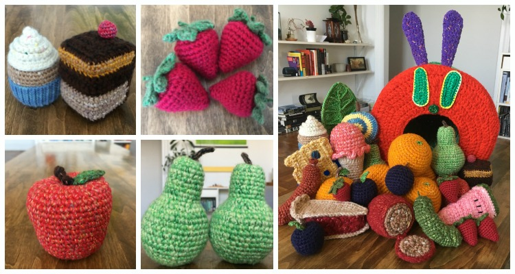crochet pattern, english or german, caterpillar Friederike | 400x750