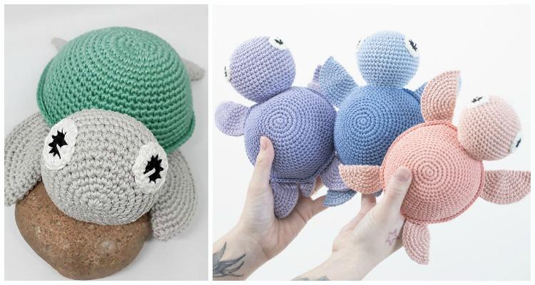 Crochet Bobble Stitch Turtle Amigurumi Free Patterns - DIY Magazine | 400x750