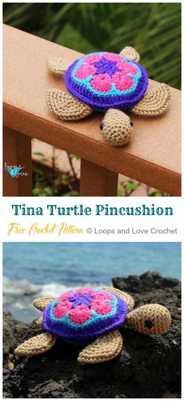 Häkeln Sie afrikanische Blumen-Meeresschildkröte Amigurumi kostenlose Muster – Amigurumi #Turtle;  Kostenlose Häkelanleitungen