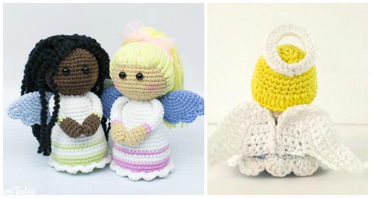 Amigurumi Doll Angel Crochet Free Patterns - Crochet & Knitting | 400x750