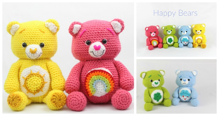 Cute Amigurumi Bears Free Crochet Patterns | Crochet bear patterns ... | 400x750