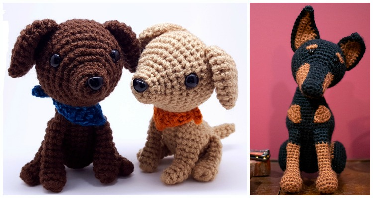 104 Crochet Pattern - English Cocker Spaniel dog with wire frame ... | 400x750