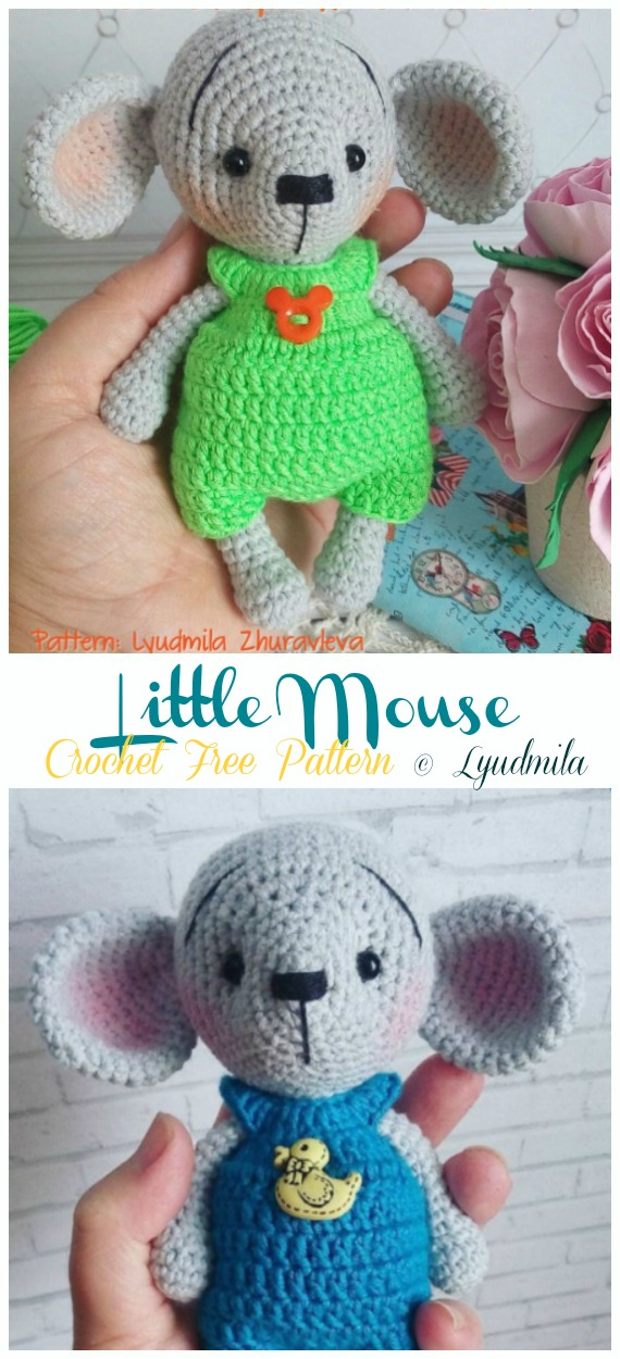 Ballerina Crocheted Mouse [FREE Crochet Pattern] | 1250x570