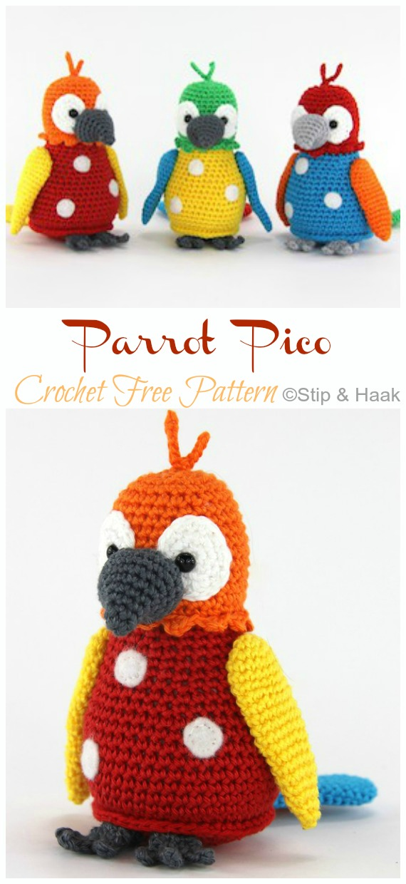 Crochet Bird Pattern | Crochet bird patterns, Crochet birds, Bird ... | 1240x570
