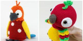 Colorful Crochet Parrot Roundup! - AmVaBe Crochet   160x324