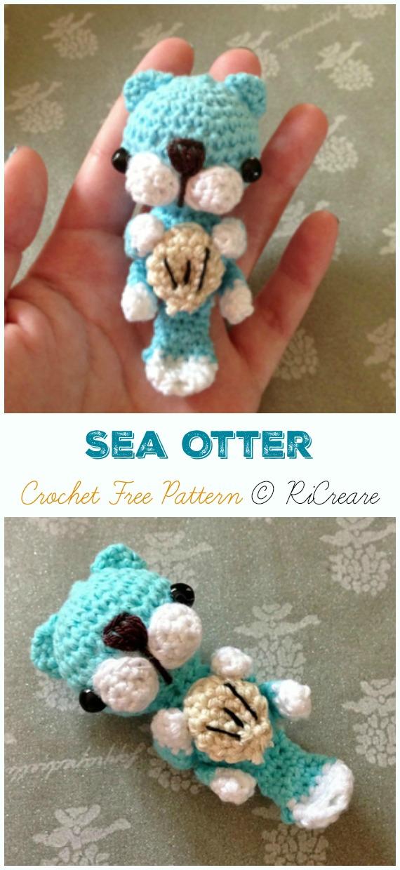Free Crochet Otter Pattern - thefriendlyredfox.com   1240x570