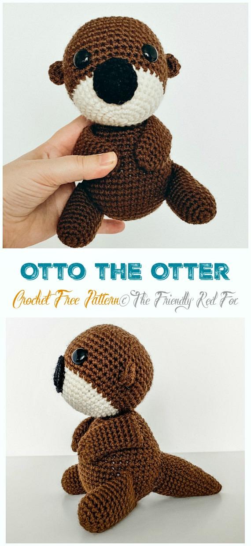 Amigurumi Crochet Sea Creature Animal Toy Free Patterns | 1240x570