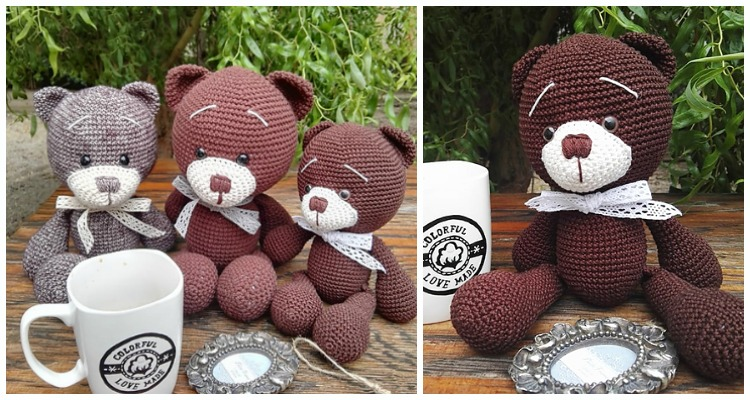 amigurumi teddy bear 1 free pattern | Crochet Patterns Ideas | 400x750
