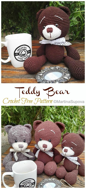 20+ Free Crochet Teddy Bear Patterns ⋆ Crochet Kingdom   1240x570
