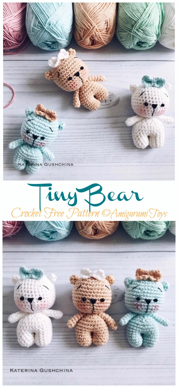Amigurumi small animals by Innakozachuk / Gray crochet panda toy ... | 1240x570