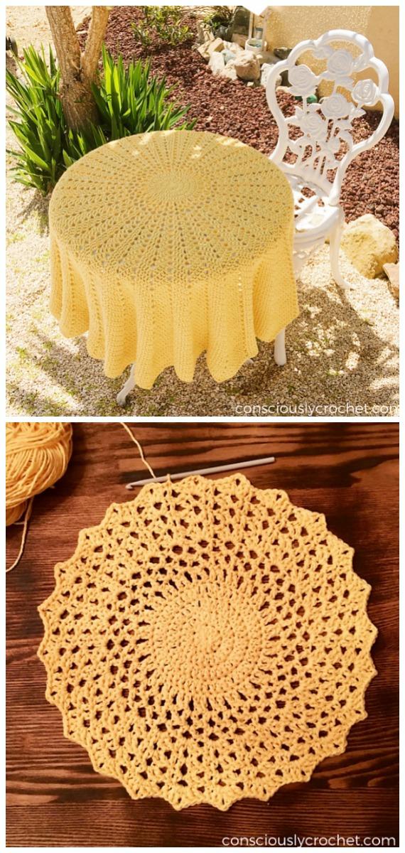 Gündönümü Battaniye Crochet Free Pattern - Circle #Blanket;  Ücretsiz #Crochet;  Desenler