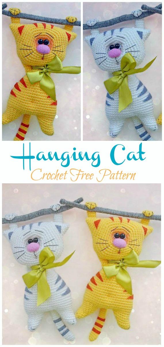 Amazon.com: Cat Handmade Amigurumi Stuffed Toy Knit Crochet Doll ... | 1200x570