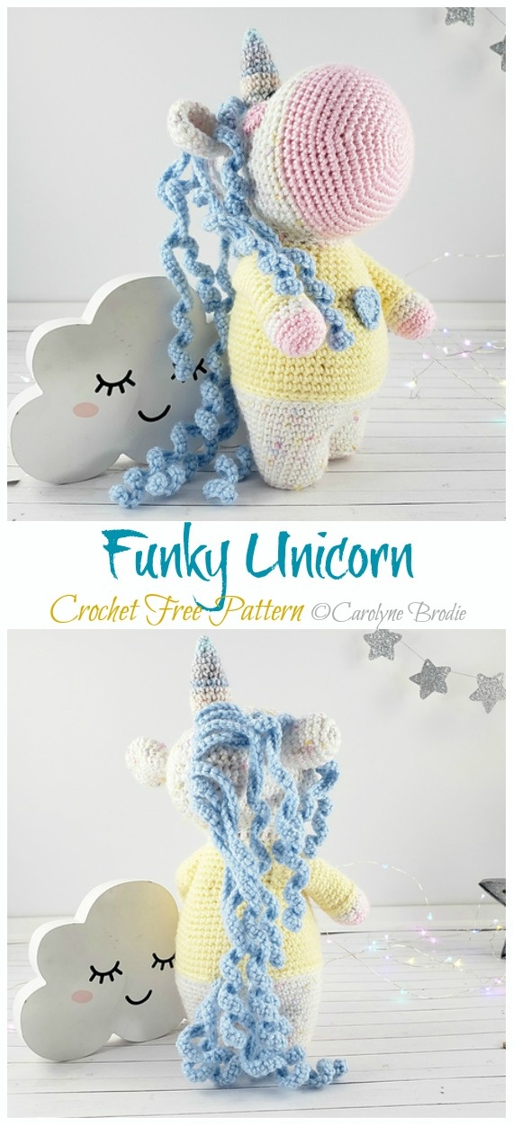 Free Crochet Unicorn Pattern - Red Ted Art - Make crafting with ... | 1250x570