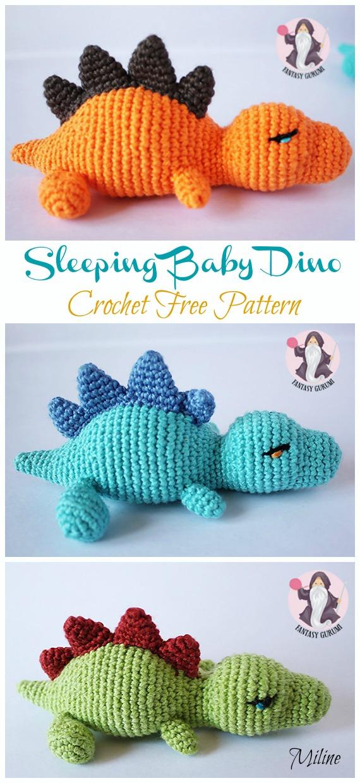 My Friend Dinosaur Dino Amigurumi Crochet Pattern | 1240x570