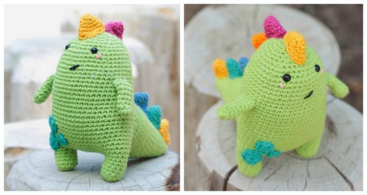 Dinosaur Amigurumi Tutorial | Free Crochet Pattern | Open Mouth ... | 400x750