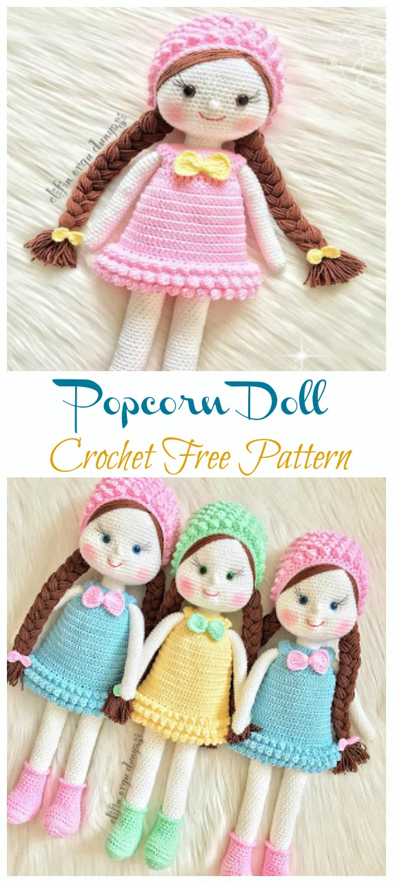 The Most Beautiful Amigurumi Doll Free Crochet Patterns ... | 1280x570