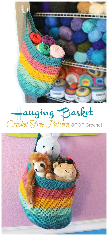 Hanging Sack Basket Crochet Free Pattern - Crochet & Knitting