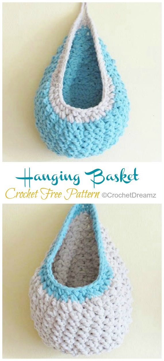 Hanging Sack Basket Crochet Free Pattern Crochet Amp Knitting