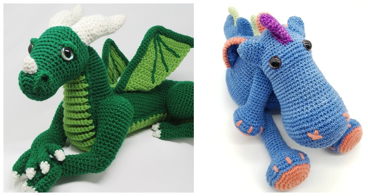 More Dragons to Crochet – free patterns – Grandmother's Pattern Book | 400x750