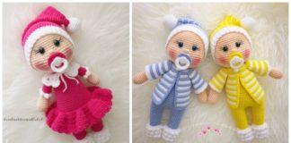 Ravelry: Doll Amigurumi - Sleepy Head Dolls pattern by CROriginals | 160x324