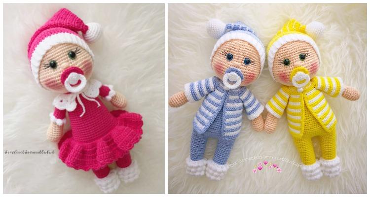 40 Crochet Doll Patterns (Clothing & Accessories) | AllFreeCrochet.com | 400x750
