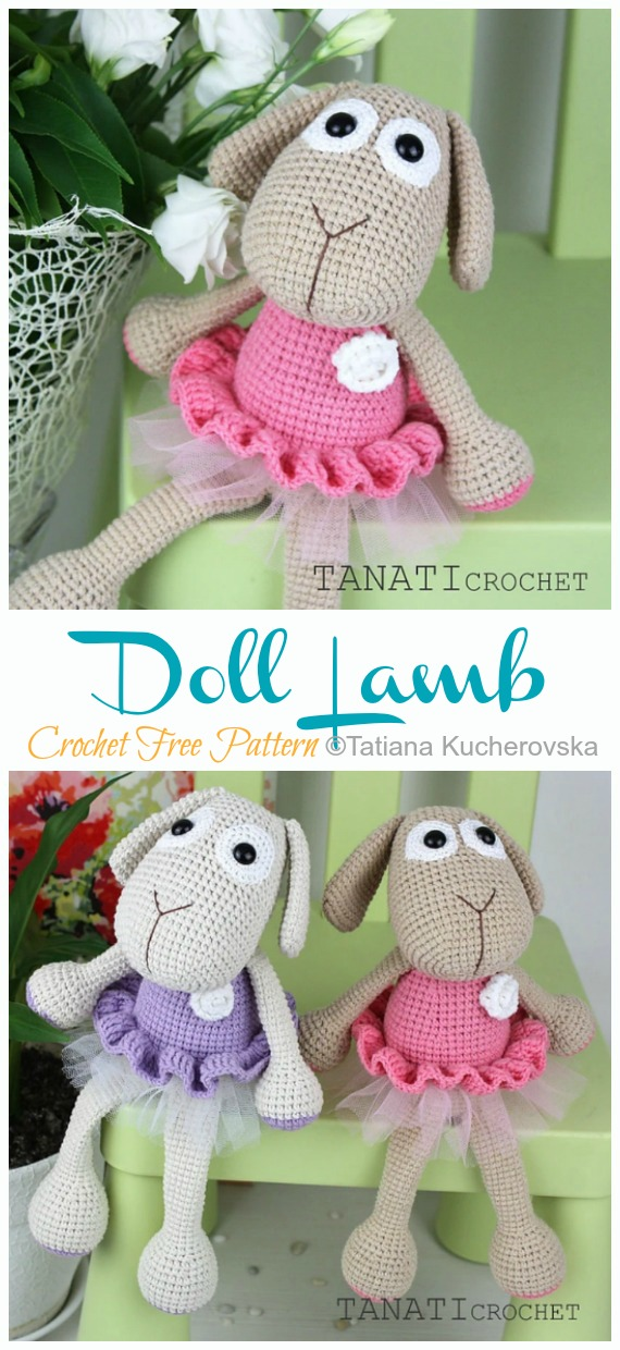 Crochet Lamb Pattern and Baby Mobile - Repeat Crafter Me | 1240x570