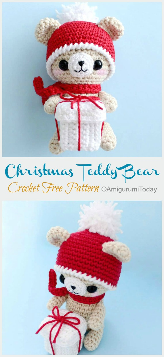Crochet pattern Nick, the christmas bear pdf ternura amigurumi ... | 1240x570