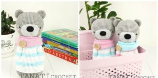 Free Amigurumi Bear Toy Softies Crochet Patterns | Crochet animal ... | 160x324