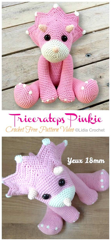 Amigurumi Dinosaur Free Crochet Patterns | 1240x570