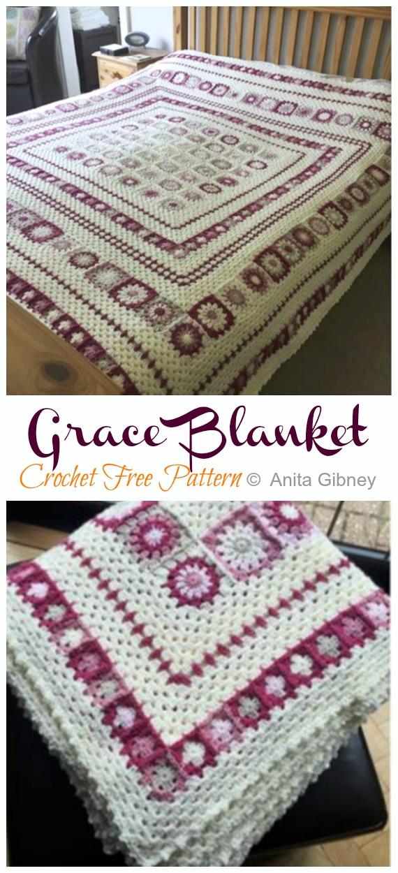 Grace Granny Blanket Crochet Free Pattern - Crochet & Knitting