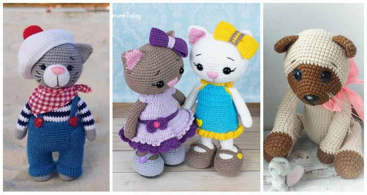 Valentine's Day Cat crochet pattern | Crochet patterns, Crochet ... | 400x750
