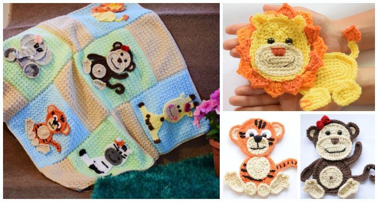 Jungle Friends Blanket Crochet Free Pattern Crochet