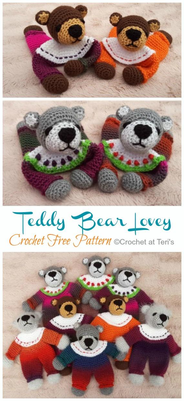 Teddy Bear Comforter Blanket Free Crochet Pattern - Cool Creativities | 1240x570