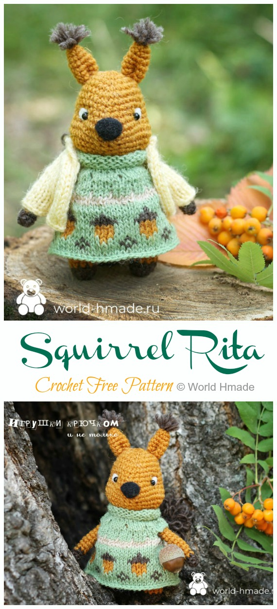 Woodland Creatures - Animal Crochet Pattern Round Up - Rebeckah's ... | 1250x570