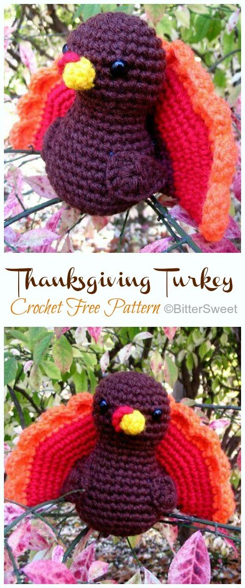 10 Free Amigurumi Turkey Crochet Patterns   1200x500