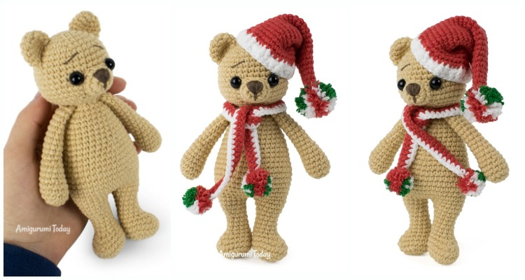 Ravelry: Cuddle me bear amigurumi pattern by Amigurumi Today | 400x750