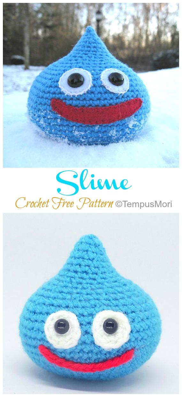 Amigurumi Slime Crochet Free Pattern - Ücretsiz #Amigurumi;  Bebek Oyuncak Softies Tığ Desenleri