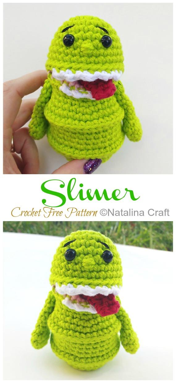 Amigurumi Slimer Crochet Free Pattern - Ücretsiz #Amigurumi;  Bebek Oyuncak Softies Tığ Desenleri