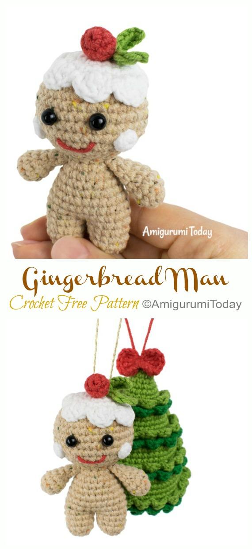 Amigurumi Little Gingerbread Man Crochet Modèle Gratuit - Crochet #Noël;  Jouets #Amigurumi;  Patrons gratuits